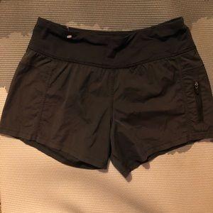 Lululemon All-Sport Short 4 Black Zipper Pocket